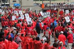 教师罢工芝加哥P 库存图片