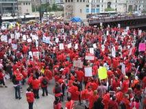 教师罢工芝加哥S 免版税库存图片