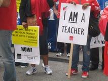 教师罢工芝加哥U 免版税图库摄影
