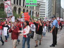 教师罢工芝加哥v 免版税图库摄影