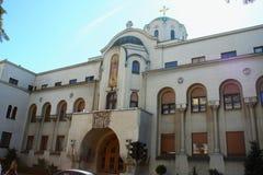 主教的职位宫殿位于区域瓦罗斯门 免版税库存照片