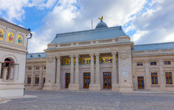 主教的职位的宫殿,布加勒斯特,罗马尼亚 图库摄影