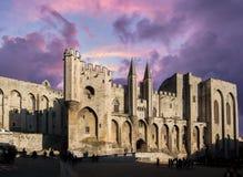 教皇宫殿,阿维尼翁,法国 免版税库存照片