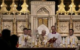教皇方济各访问罗马尼亚 库存图片