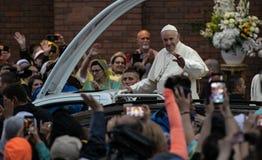 教皇方济各访问罗马尼亚 库存照片