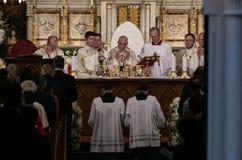 教皇方济各访问罗马尼亚 免版税库存图片