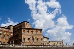 教皇的公寓在梵蒂冈 免版税库存照片