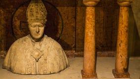教皇雕象 库存照片