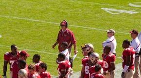 教练佛罗里达橄榄球题头状态 库存照片