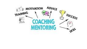 教练和良师概念,在行动的例证 向量例证