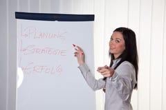 教练妇女的商业新 库存图片