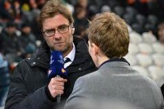 教练Juergen Klopp多特蒙德足球俱乐部 免版税库存照片