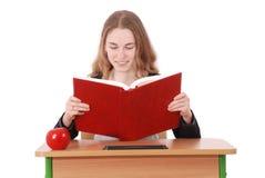 教育、人、少年和学校概念-少年学校女孩 库存照片