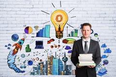 教育、想法和计划概念 免版税库存照片