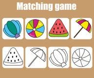 教育儿童比赛 比赛色的和概述对象 了解形状 皇族释放例证