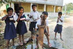 教育农村的印度 免版税库存图片