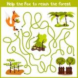 教育动画片将继续五颜六色的动物的逻辑方式家 在森林M里帮助我得到诡计多端的镍耐热铜狂放的家 皇族释放例证