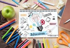 教育和学校便条纸的 库存图片