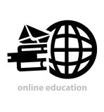 黑教育商标 免版税库存图片