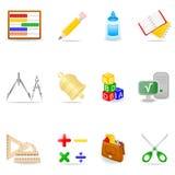 教育图标集 图库摄影