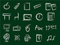 教育图标 免版税图库摄影