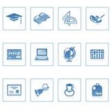 教育图标ii 免版税图库摄影