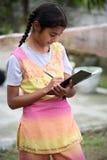 教育女孩 免版税库存照片
