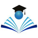 教育徽标 免版税库存照片