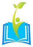 教育徽标 免版税库存图片