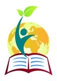教育徽标 皇族释放例证