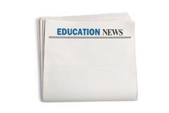 教育新闻 免版税库存图片