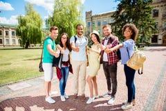 教育是凉快的!聪明的青年时期的成功的未来!六attrac 免版税库存图片