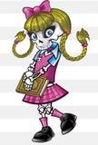 学校女孩庞克摇滚乐骨骼 库存照片