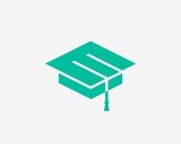 教育标志 盖帽象 简单设计教育标志 免版税图库摄影