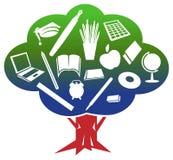 教育树 免版税库存照片