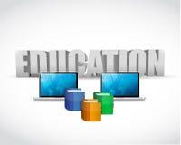 教育概念。膝上型计算机和书。例证 免版税库存图片