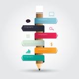 教育概念的现代Infographic 库存照片