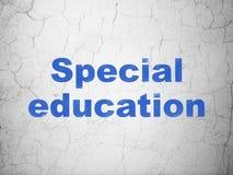 教育概念:在墙壁背景的特殊教育 图库摄影