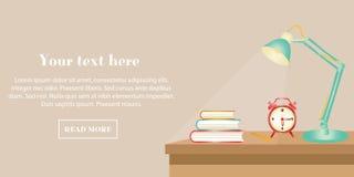 教育的平的设计横幅 库存例证