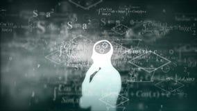 教育的研究在数学 向量例证