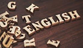 教育的英语单词 免版税库存图片