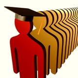 教育的领导先锋图标 免版税库存照片