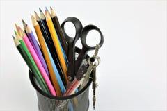 教育设备的图象办公室或学校的有拷贝空间的 免版税库存照片