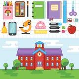 教育 学校 大学 平的例证esp10 免版税图库摄影