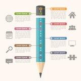 教育Infographics 图库摄影