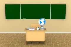 教训和训练的教室 3d例证 库存照片