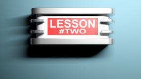 教训的两壁灯- 3D翻译 库存图片