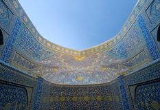教长清真寺,伊斯法罕,伊朗 库存图片