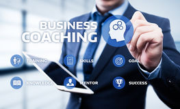 教练良师教育产业训练发展电子教学概念 免版税图库摄影