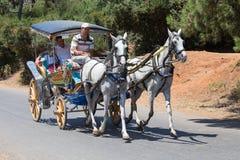 敞蓬旅游车在王子岛Buyukada 火鸡 免版税图库摄影